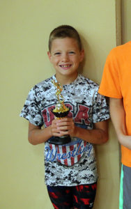Josiah McCaskill took third in the high-point standings for the 9-10 boys.