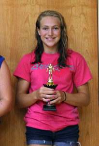Sydney Keaton took third in the high-point standings for the 13-14 girls.